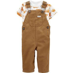 Baby Boy's Carter's Tiger Tee & Twill Overalls Set